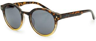 Bloc Bow Shiny Graduated Tortoiseshell Sunglasses