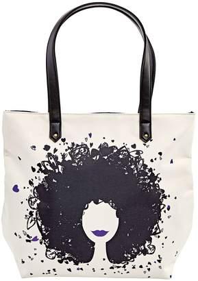 Silk Elements Hearts & Curls Tote Bag Purple