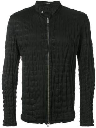 Issey Miyake crinkled zip-up jacket