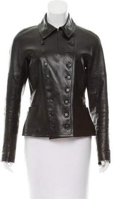 Gucci Asymmetrical Leather Jacket