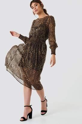 Na Kd Boho Shirred Detail Midi Dress
