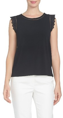 Women's Cece Eyelet Ruffle Knit Top $59 thestylecure.com