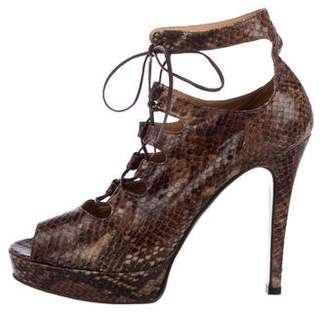 Barneys New York Barney's New York Embossed Platform Booties