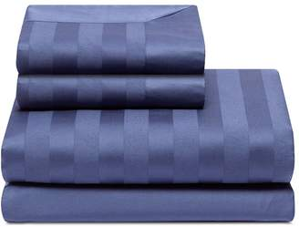 Lane Crawford Stripe duvet queen size set - Indigo