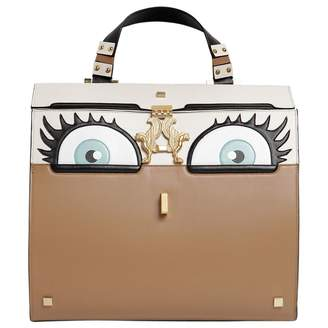 Giancarlo Petriglia Brown Leather Handbag