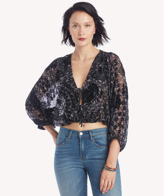 Astr Women's Shawna Top In Color: Black Lilac Floral Size XS From Sole Society