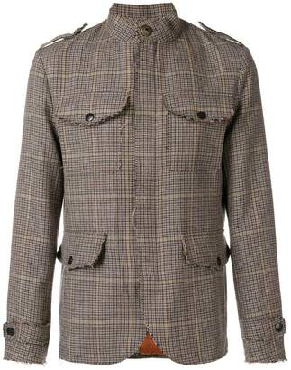 Etro check military-style jacket
