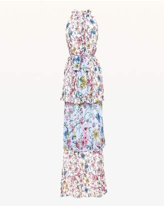 Juicy Couture Floral Mix Pleated Maxi Dress