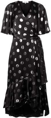 Diane von Furstenberg polka-dot flared dress