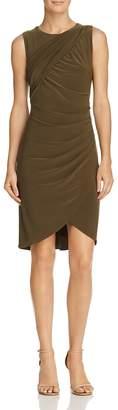 Adrianna Papell Draped Jersey Sheath Dress