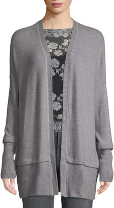 Three Dots Brushed-Jersey Open-Front Cardigan