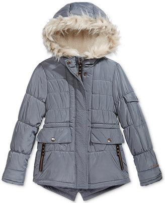 London Fog Expedition Parka with Faux-Fur Trim, Big Girls (7-16) $130 thestylecure.com