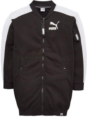 Puma Girls Classic T7 Long Sweat Jacket