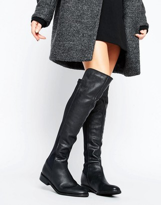 Oasis Leather Over the Knee Boots $128 thestylecure.com