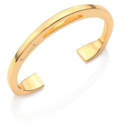 Giles & Brother Stirrup Cuff Bracelet/Goldtone $125 thestylecure.com