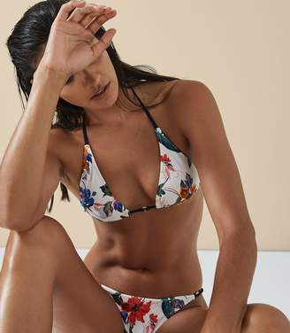 Reiss Robyn Print Printed Triangle Bikini Top