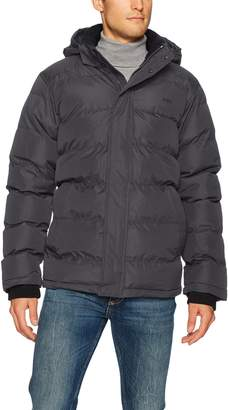 Hawke & Co Men's Lightweight Down Chevron Hooded Jacket