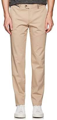 Hiltl Men's Cotton Twill Slim Trousers - Beige/Tan Size 36