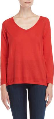 Gerard Darel V-Neck Pointelle Knit Sweater