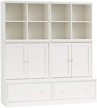 Pottery Barn Kids Cameron Small Space with Drawer Bases Storage Wall System, Simply White