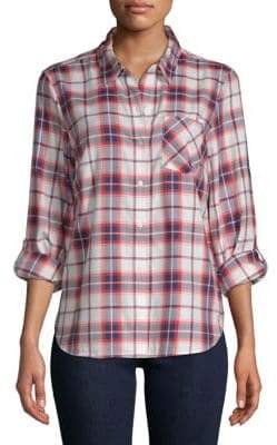 Tommy Hilfiger Plaid Roll-Tab Button-Down Shirt