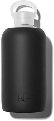 BKR Glass Water Bottle with Smooth Silicone Sleeve for Travel
