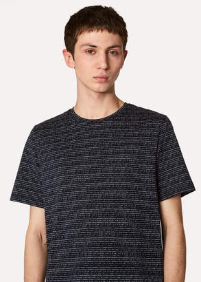 Paul Smith Men's Dark Navy Dash-Stripe T-Shirt