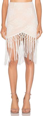 MAJORELLE Filaree Fringe Skirt $150 thestylecure.com