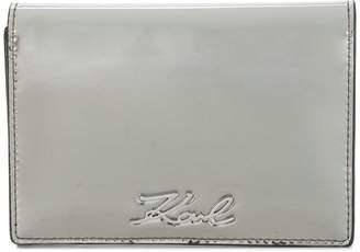 Karl Lagerfeld Signature Gloss Fold wallet