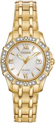 Citizen 26mm Eco-Drive Diamond Bracelet Watch, Golden