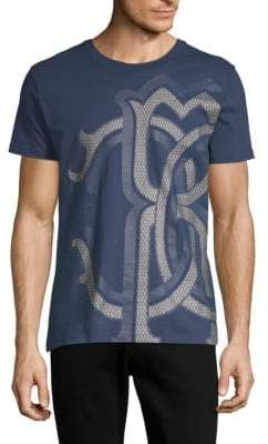 Roberto Cavalli Graphic Crewneck Cotton Tee