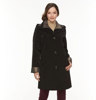 Women's Gallery Hooded Lined Rain Jacket $220 thestylecure.com