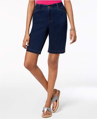 Charter Club Tummy-Control Denim Shorts, Created for Macy's