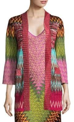 Missoni Metallic Zig Zag Cardigan