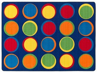 Flagship Carpets Sitting Spots Blue/Yellow Area Rug Flagship Carpets