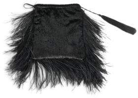 ATTICO Feather& Velvet Pouch
