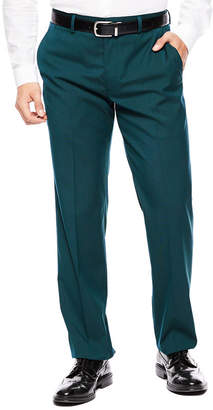 Jf J.Ferrar Men's JF Teal Flat-Front Straight-Leg SuperSlim-Fit Suit Pants