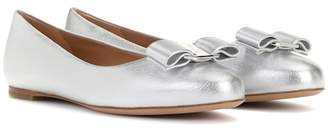Salvatore Ferragamo Varina metallic leather ballerinas