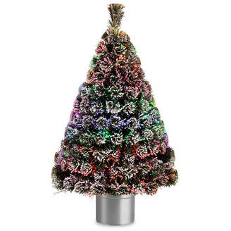 NATIONAL TREE CO National Tree Co. 4 Foot Evergreen Flocked Pre-Lit Flocked Christmas Tree