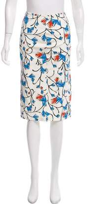 Tanya Taylor Printed Knee-Length Skirt