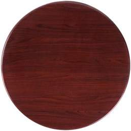 Flash Furniture 24'' Round Resin Mahogany Table Top