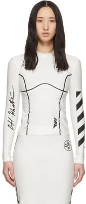 Off-White Off White White Basic Long Sleeve T-Shirt