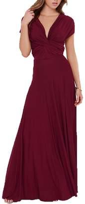 Choies Women's Convertible Maxi Dress Multi-way Strap Maxi Dress S