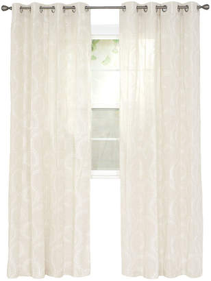 Cambridge Silversmiths HOME Home Andrea Embroidered Grommet-Top Curtain Panel