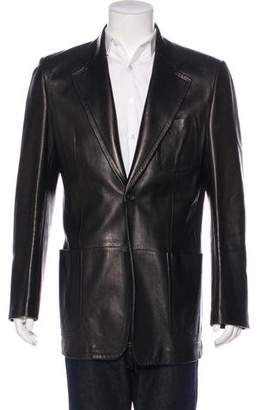 Gucci Two-Button Leather Jacket