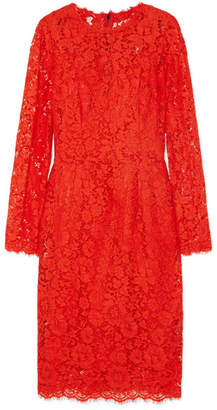 Dolce & Gabbana Guipure Lace Midi Dress - Orange