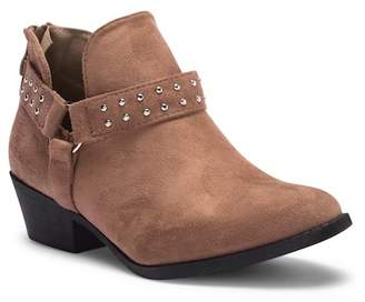 Top Moda Studded Strap Ankle Bootie
