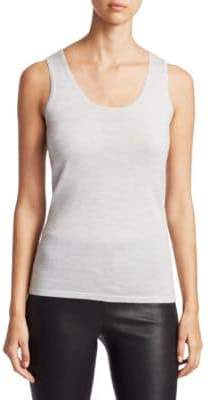 Saks Fifth Avenue COLLECTION Featherweight Cashmere Shell