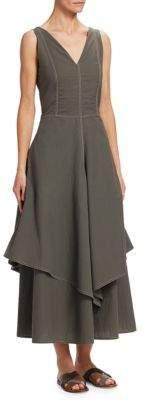 Brunello Cucinelli Seamed Cotton Dress