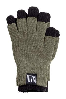 H&M Gloves/Fingerless Gloves - Dark khaki green - Kids